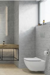 Pietra Light Grey Floor & Wall Tile 297x598mm