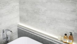 Hampton White Floor & Wall Tile 297x598mm