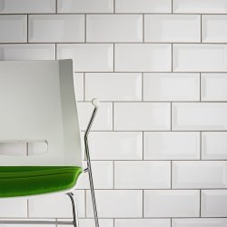 White Bevelled Brick Wall Tile 100X200mm