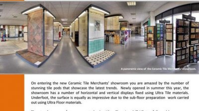 Tile and Stone Journal features Ceramic Tile Merchants in Ultra Tile Case Study