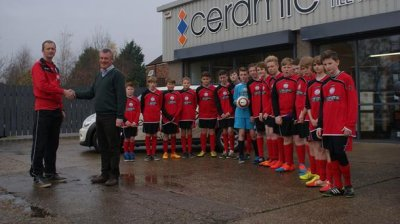 Ceramic Tile Merchants and Hornsea Sporting FC Under-14s in winning formula